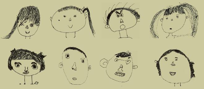 儿童人物五官简笔画