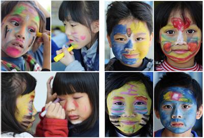 儿童简单面部彩绘